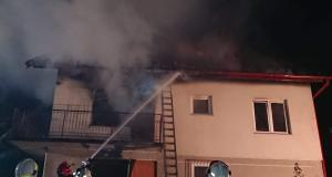 Pożar domu w Czchowie