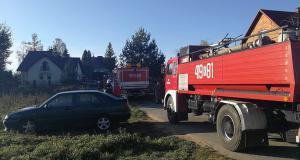Pożar garażu w Sterkowcu